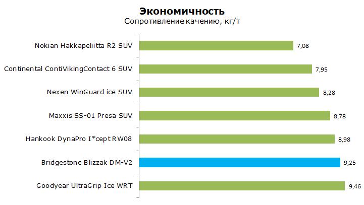 Тесты шины Бриджстоун Близзак ДМ В2, обзор