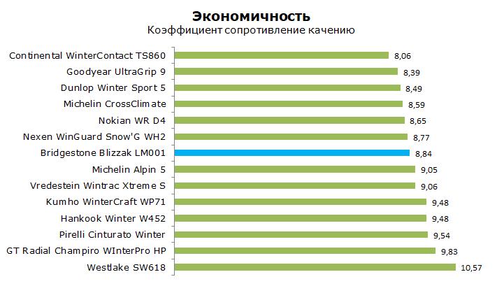 Тест Бриджстоун Близзак ЛМ001, обзор шины
